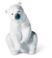 Resting Polar Bear Figurine