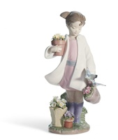 Delicate Nature Girl Figurine