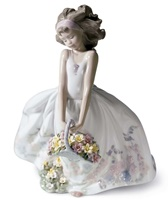 Wild Flowers Girl Figurine