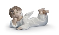 Angel Laying Down Figurine