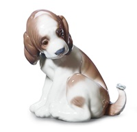 Gentle Surprise Dog Figurine