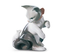 Cat and Mouse Figurine