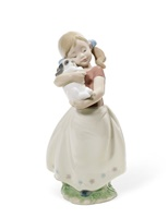 My Sweet Little Puppy Girl Figurine