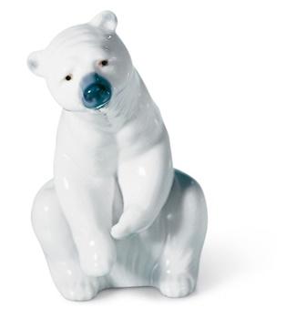 Resting Polar Bear Figurine