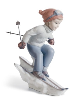 I'll Get There First Girl Figurine