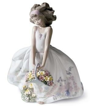 Wild Flowers Girl Figurine