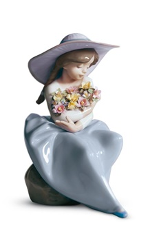 Fragrant Bouquet Girl Figurine