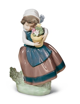 Spring Is Here Girl Figurine