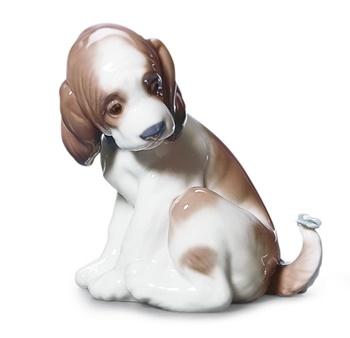 Gentle Surprise Dog Figurine