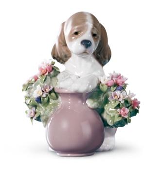 Take Me Home Dog Figurine