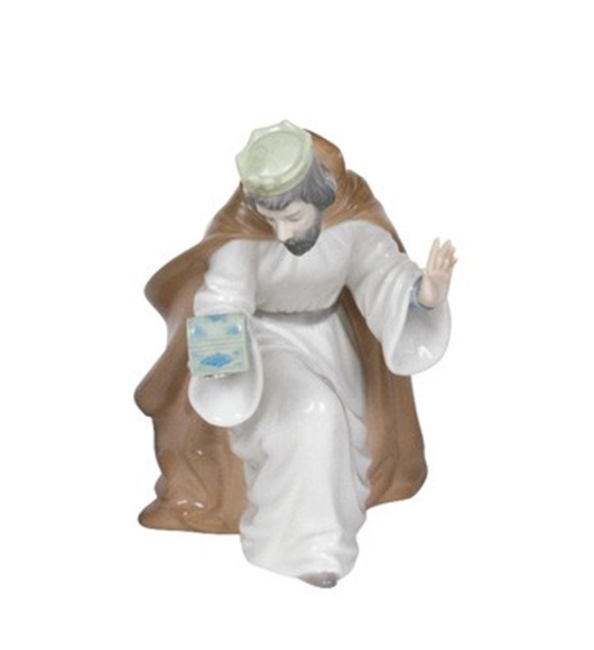 King Melchior with Chest Figurine