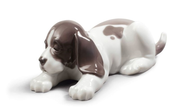 Sleepy Puppy Figurine