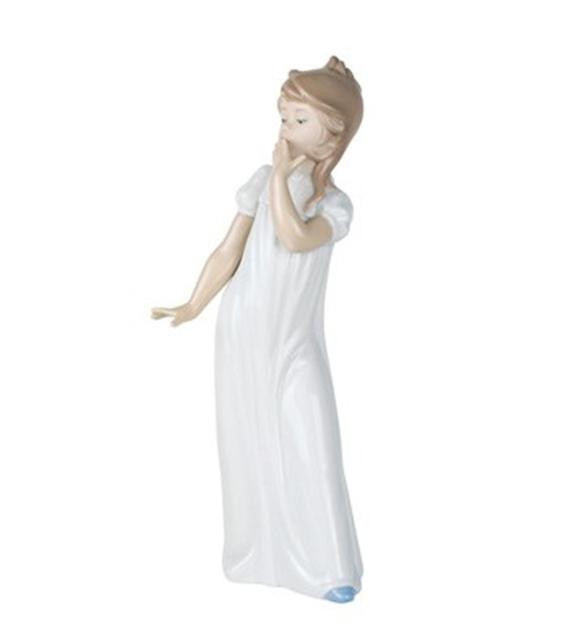 Girl Yawning Figurine